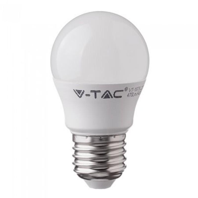 Bec economic cu LED, 5.5 W, 470 lm, 6000 K, soclu E27, lumina alb rece, forma G45 shopu.ro