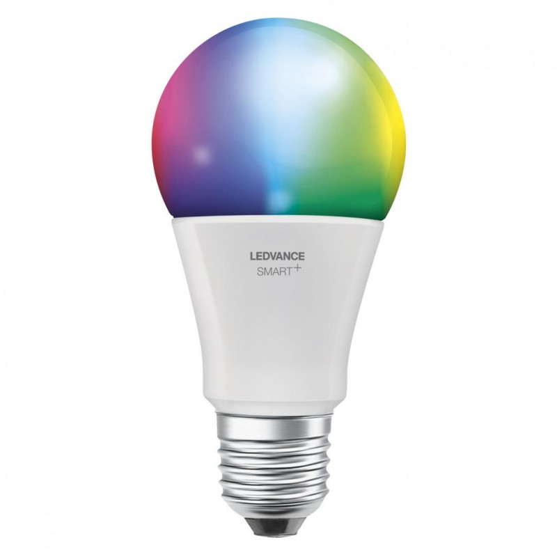 Bec Led Smart Ledvance, WiFi, A75, 14 W, 6500 K reglabil, 230 V, 1521 Lumeni, E27, aplicatie, A+, Multicolor shopu.ro