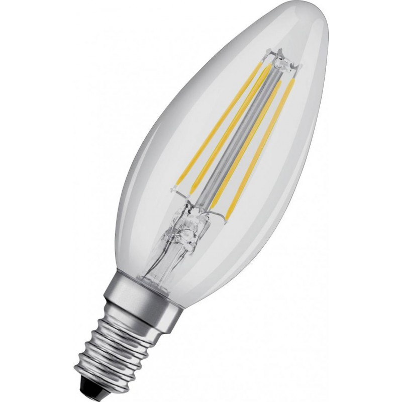Bec LED Osram Retrofit Classic B, 4 W, 4000 K, 470 Lumeni, 220 V, E14, 15000 ore, clasa energetica A++ shopu.ro