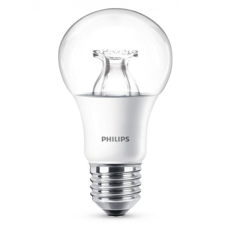 Bec LED Philips 8.5W (60W), 220-240V, E27, ambianata alba, temperatura culoare calda 2200-2700K, 806 lumeni, durata de viata 15.000 ore, clasa energetica A+ shopu.ro