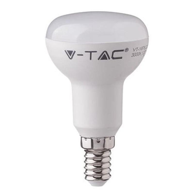 Bec economic cu LED, 3 W, 250 lm, 6400 K, soclu E14, lumina alb rece, cip Samsung, forma R39 2021 shopu.ro