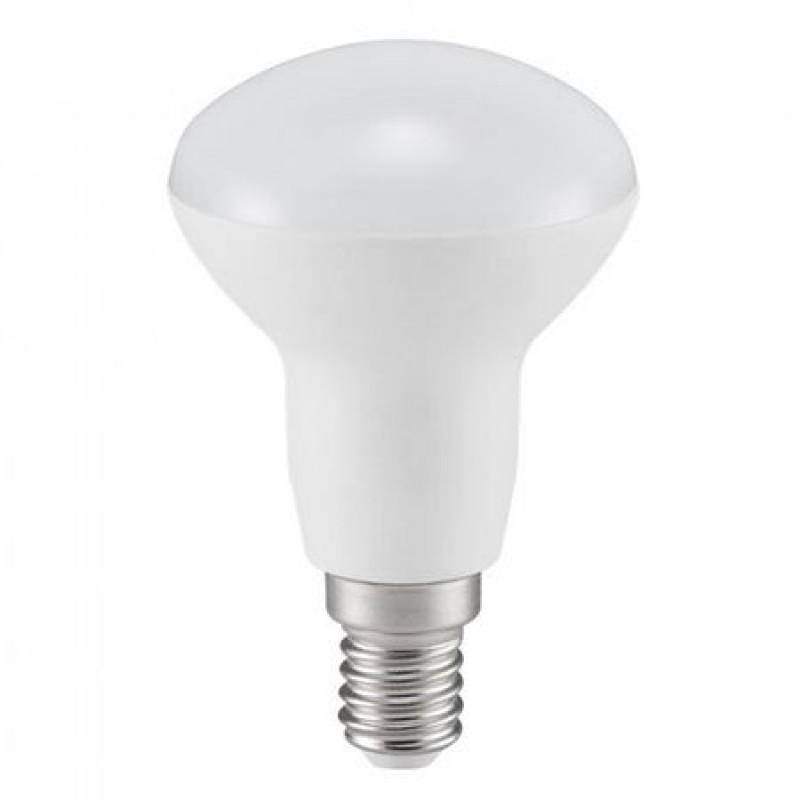 Bec economic cu LED, 6 W, 470 lm, 3000 K, soclu E14, lumina alb cald, cip Samsung, forma R50 shopu.ro