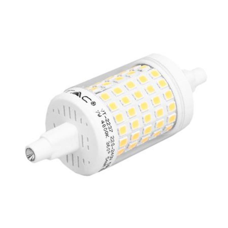 Bec economic LED, R7S, 7 W, 580 lm, 6400 K, lumina alb rece 2021 shopu.ro