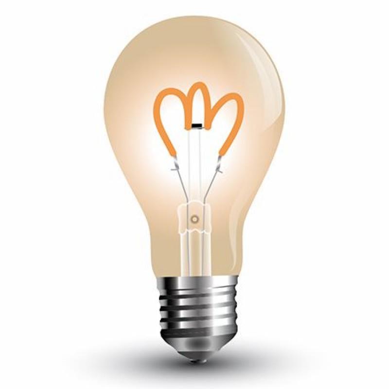 Bec LED cu filament ST64, soclu E27, 3 W, temperatura 2200 K, culoare alb cald, model vintage shopu.ro