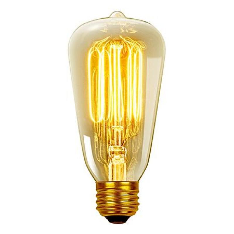 Bec LED cu filament ST64, soclu E27, 8 W, temperatura 2200 K, culoare alb cald, model edison 2021 shopu.ro