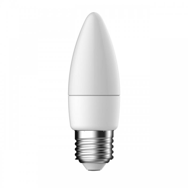 Bec LED Tungsram, E27, forma lumanare, 5.5 W, 10000 ore, lumina rece shopu.ro