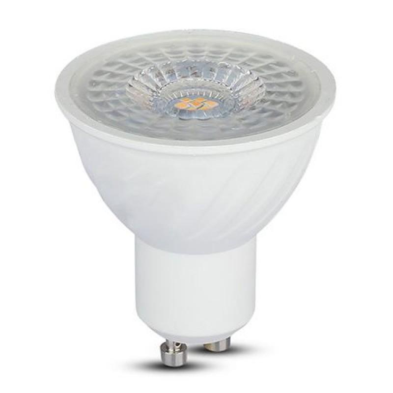 Spot cu LED, 6.5 W, 480 lm, 3000 K, soclu GU10, lumina alb cald, cip Samsung, forma PAR16 shopu.ro