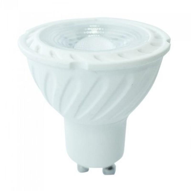 Spot LED dimabil GU10, 6.5 W, 3000 K, 450 lm, cip samsung, lumina alb cald shopu.ro