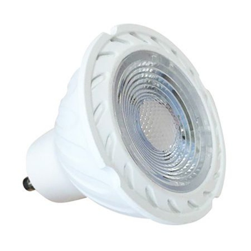 Spot cu LED, 7 W, 480 lm, 3000 K, soclu GU10, lumina alb cald, cip Samsung, forma PAR16 2021 shopu.ro
