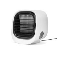 Mini ventilator portabil Bewello, USB, 150 x 135 x 165 mm, 300 ml, 3 trepte, Alb