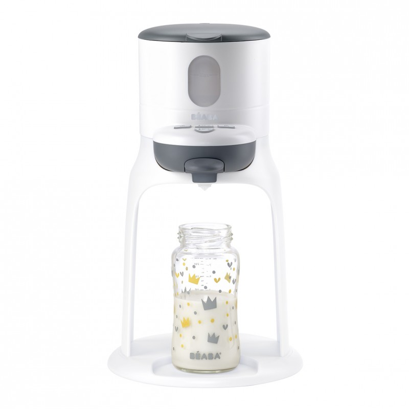 Espressor lapte praf Bib Expresso Beaba, sistem autocuratare, White Grey 2021 shopu.ro