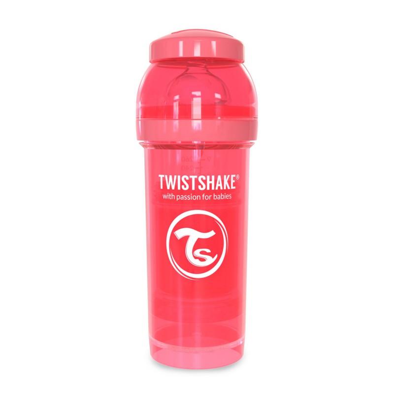 Biberon anticolici cu recipient lapte praf Twistshake, 260 ml