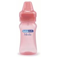 Biberon Happy BebeduE 10092, 260 ml, 3 luni+, roz
