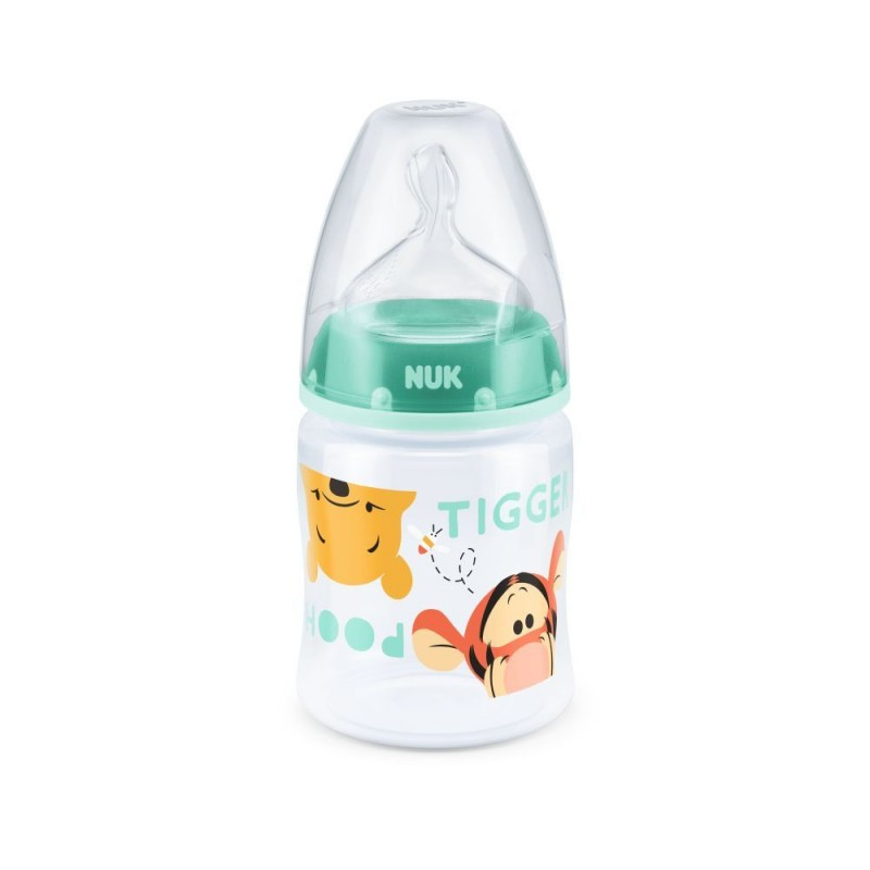 Biberon Disney First Choice Nuk, 150 ml, tetina silicon, 0-6 luni, Vernil 2021 shopu.ro