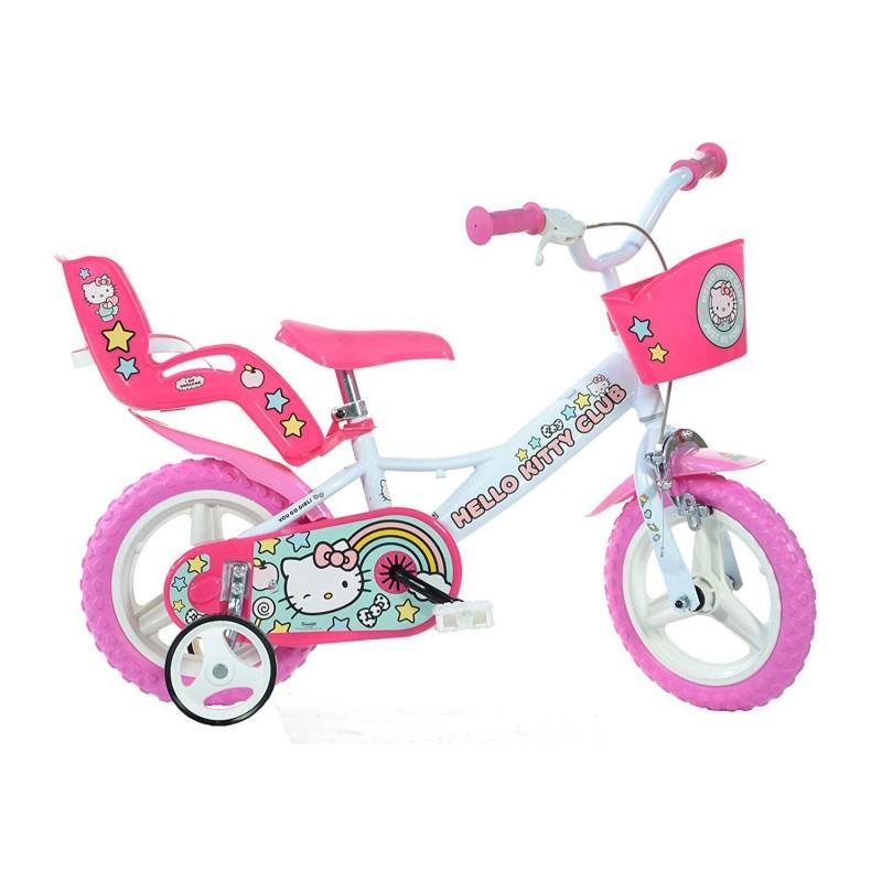 Bicicleta copii Dino Bikes, diametru roata 30 cm, model Hello Kitty 2021 shopu.ro