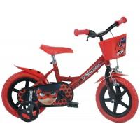 Bicicleta pentru copii Dino Bikes Miraculos-Buburuza, 3-4 ani, maxim 40 kg