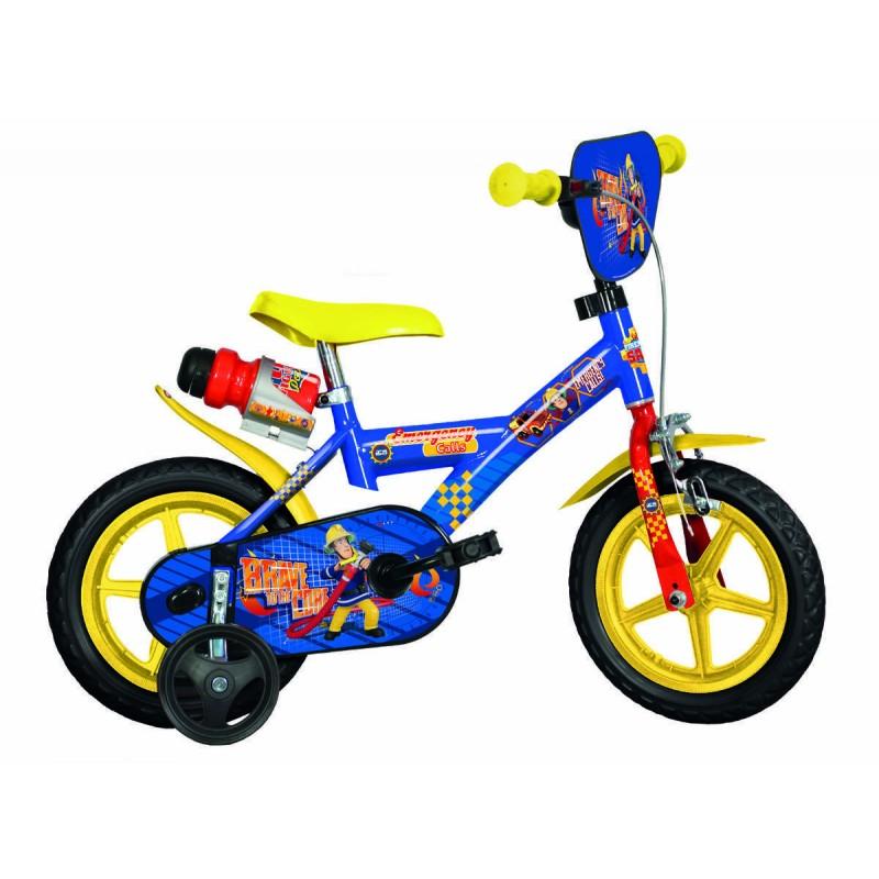 Bicicleta pentru copii Dino Bikes Pompierul Sam, 12 inch 2021 shopu.ro