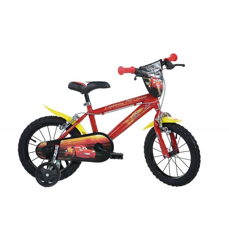 Bicicleta pentru copii CARS, 14 inch, maxim 50 kg, 4 ani+ 2021 shopu.ro