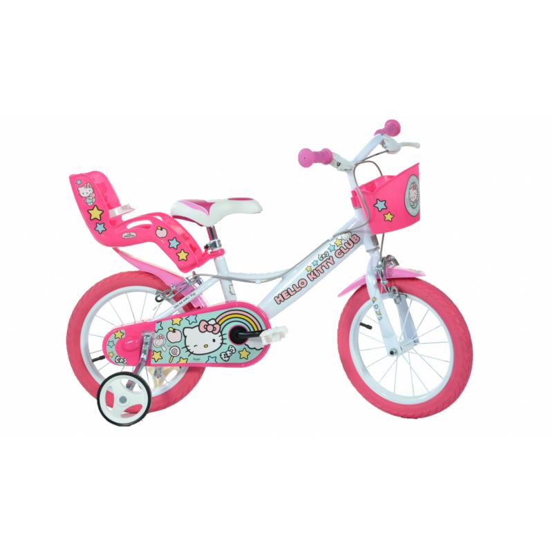 Bicicleta copii Dino Bikes, diametru roata 35 cm, model Hello Kitty