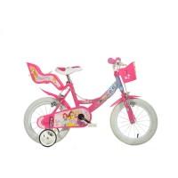 Bicicleta pentru copii Dino Bikes Princess, varsta recomandata 4 ani+