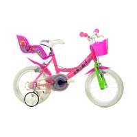 Bicicleta pentru fetite Dino Bikes Trolls, 14 inch, spite metalice, 4 ani+