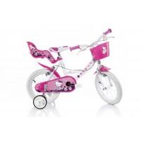 Bicicleta pentru fetite Dino Bikes Hello Kitty, 16 inch, varsta 5 ani+