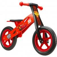 Bicicleta lemn fara pedale Cars 12 Seven, suporta maxim 28 kg, 2 ani+