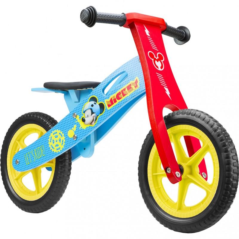 Bicicleta lemn fara pedale Mickey 12 Seven, suporta maxim 28 kg, 2 ani+ 2021 shopu.ro