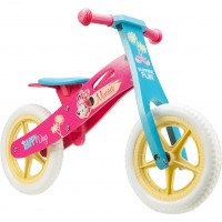 Bicicleta lemn fara pedale Minnie 12 Seven, suporta maxim 28 kg, 2 ani+