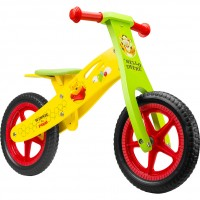 Bicicleta din lemn fara pedale Winnie the Pooh Seven SV9910, 12 inch, 2-6 ani