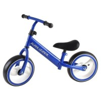 Bicicleta fara pedale Kruzzel, otel carbon, 12 inch, lumini LED, Albastru