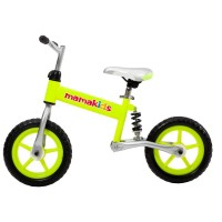 Bicicleta fara pedale Hit Mamakids Kidcity, 3 ani+, verde