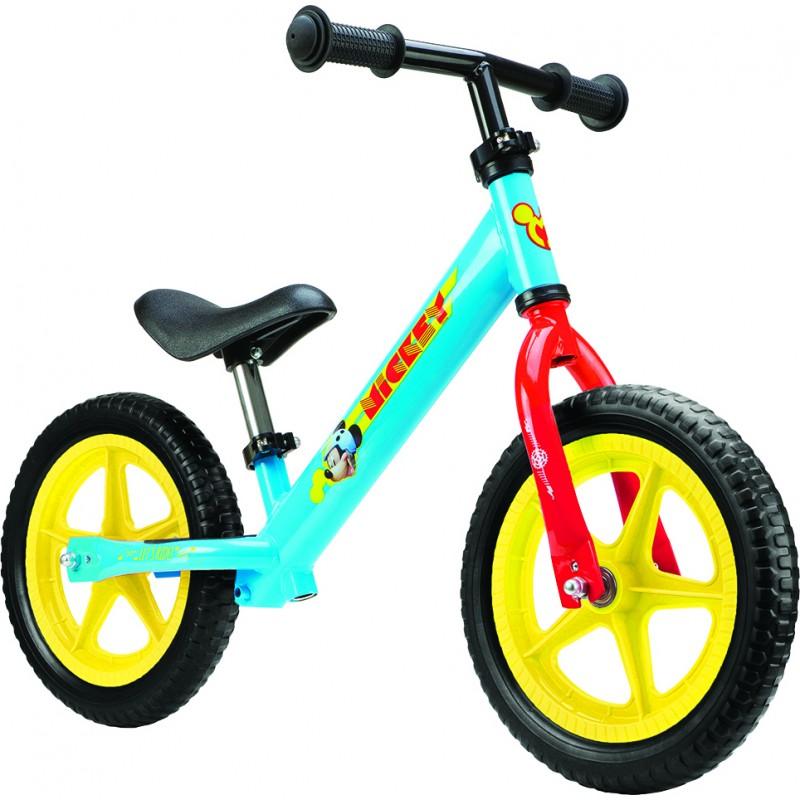 Bicicleta fara pedale Mickey Seven SV9902, 12 inch, 2-6 ani
