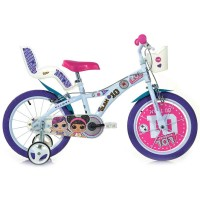 Bicicleta LOL Dino Bikes, 16 inch, suporta maxim 60 kg, 5 ani+
