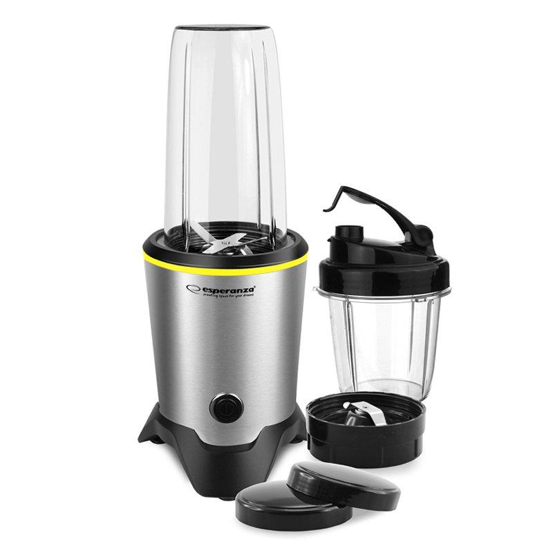 Blender Nutri Master Esperanza, 1000 W, 1 l, 3 functii, Argintiu/Negru 2021 shopu.ro