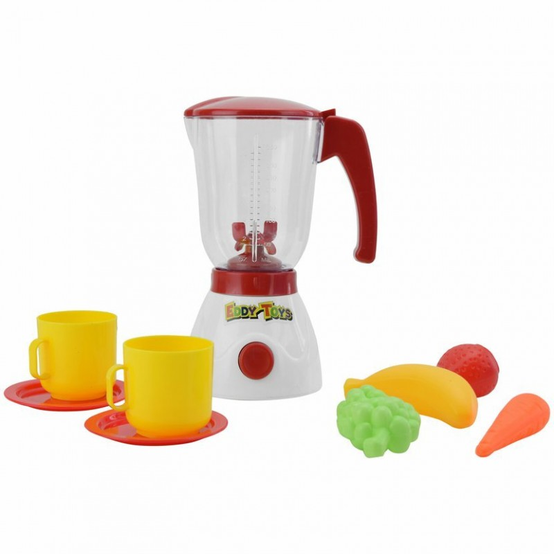Jucarie blender Eddy Toys, plastic, 9 piese, 350 ml, 3 ani+, Multicolor 2021 shopu.ro