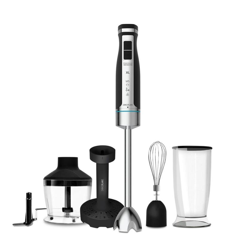 Blender Cecotec PowerGear XL Mash Pro, 1500 W, 800 ML, 21 viteze, functie turbo, lame titan, indicator luminos, accesorii incluse, Argintiu 2021 shopu.ro