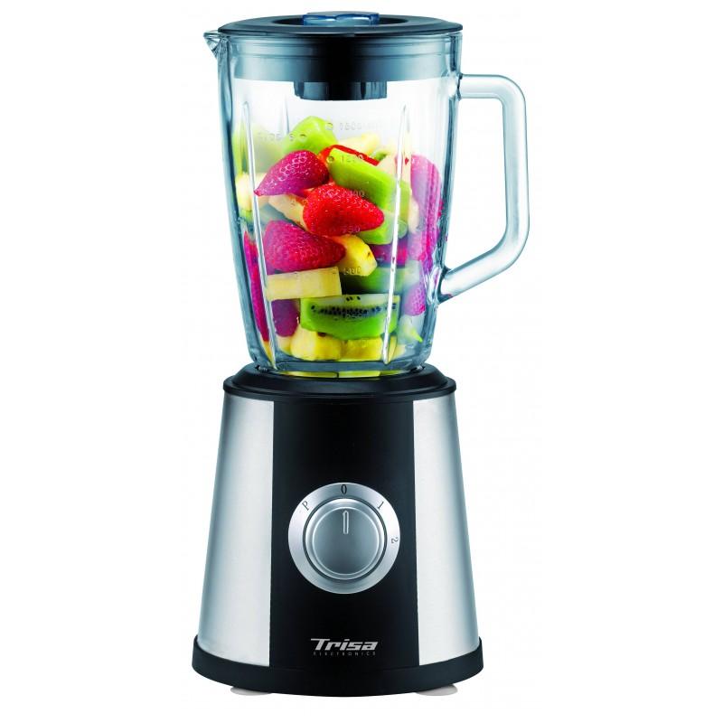 Blender de masa Trisa Pro Mix, 500 W, vas sticla 1.5 l, 2 viteze, functie impuls si zdrobire gheata