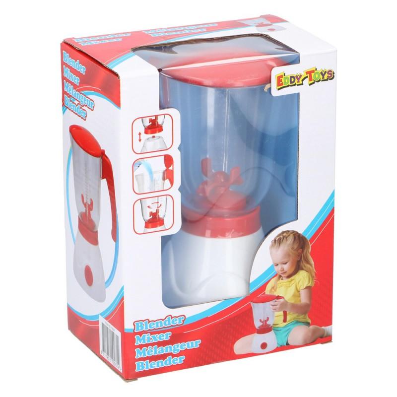 Jucarie blender Eddy Toys, plastic, 350 ml, 3 ani+, Rosu/Alb