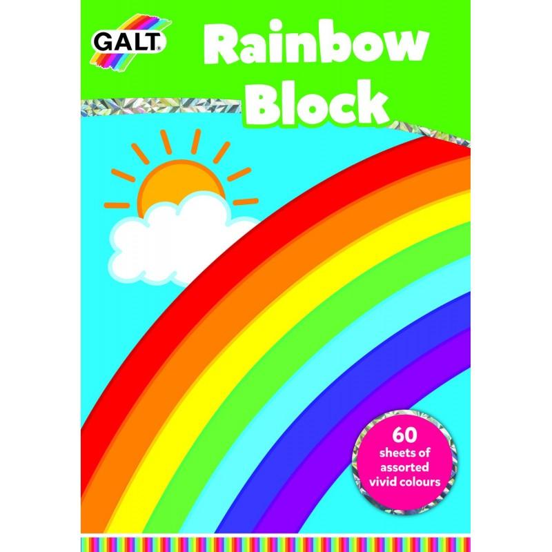 Bloc de desen cu planse colorate Galt, 29.7 x 21 cm, 60 de coli de hartie viu colorate, 3 ani+ 2021 shopu.ro