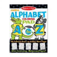 Carte de desenat Alfabetul animalelor Melissa & Doug, 26 pagini, 3 ani+