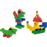 Set de construit Blocks Super Scoala Miniland, 96 piese