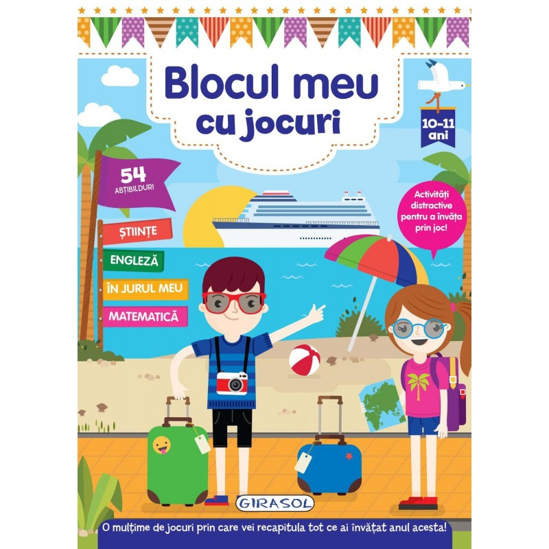 Carte pentru copii Blocul meu cu jocuri Girasol, 10 ani+ 2021 shopu.ro