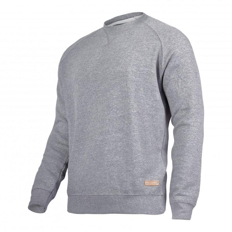 Bluza Lahti, talie si mansete elastice, 60% bumbac, captusita in interior, marime M, Gri 2021 shopu.ro