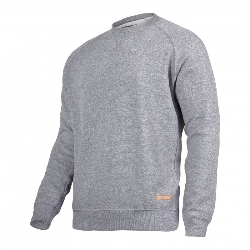 Bluza Lahti, talie si mansete elastice, 60% bumbac, captusita in interior, marime XL, Gri shopu.ro