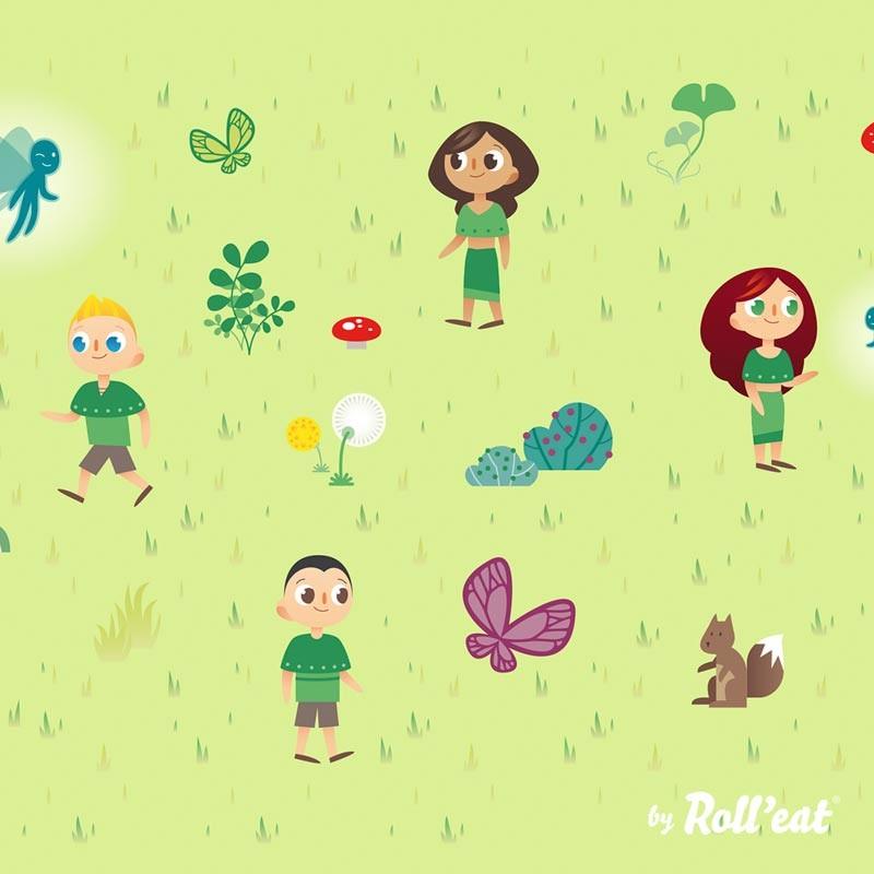 Ambalaj reutilizabil pentru sandwich Boc'n'Roll Kids, model Forest