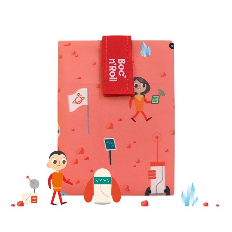 Ambalaj reutilizabil pentru sandwich Boc'n'Roll Kids, model Space 2021 shopu.ro