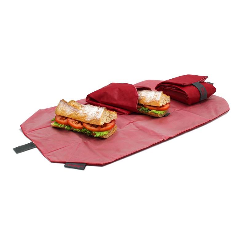 Ambalaj reutilizabil pentru sandwich Boc'n'Roll Square, Rosu