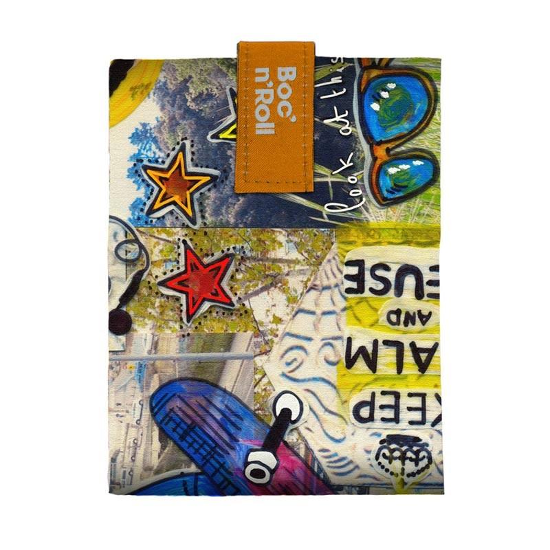 Ambalaj reutilizabil pentru sandwich Boc'n'Roll Teens Boys Monkey 2021 shopu.ro