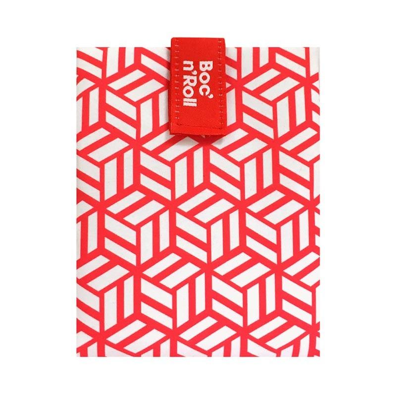 Ambalaj reutilizabil pentru sandwich Boc'n'Roll Tiles, Rosu 2021 shopu.ro